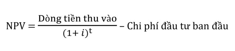 Cach tinh NPV